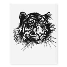 tiger cat temporary tattoos zazzle