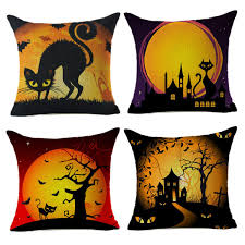 halloween pillow halloween pillow covers black cat home decor throw sofa 18