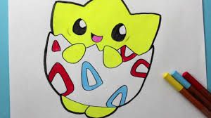 pokemon go how to draw and color togepi happydrawings youtube