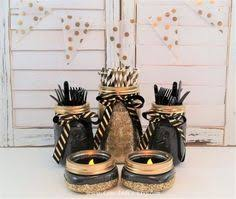 image result for centerpieces with black and gold angie baby