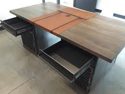 Desk Protector Pad by Handmade Modern Industrial Desk With Custom Leather Signature Pad