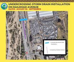 coc valencia map scvnews com railroad ave drain project begins august 28