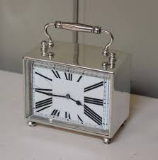 antiques atlas unusual art deco silver plated carriage clock