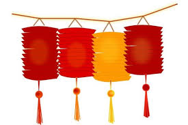 lunar new year lanterns lantern clipart new year decoration pencil and in color