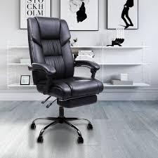 pieds de cuisine r lable songmics fauteuil de bureau chaise de bureau avec repos pieds
