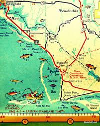 Florida Maps Mexico Beach Map Art Print Florida Map Art Port St Joe Map