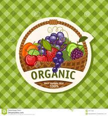organic fruit basket organic royalty free stock photos image 38477268