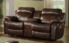 homelegance marille rocking reclining loveseat in warm brown