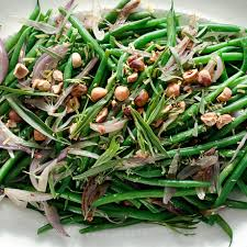 green bean thanksgiving recipes green beans with shallots hazelnuts and tarragon recipe