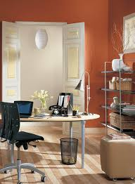 Office Color by Decorating Ideas Exciting Small Home Office Interior With Orange