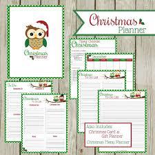 printable planner cover 2016 printable christmas planner krafty owl