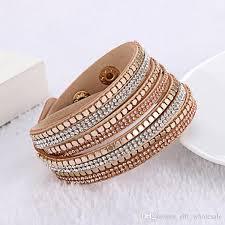 rhinestone wrap bracelet images Multilayer wrap bracelets rhinestone diamond crystal leather jpg