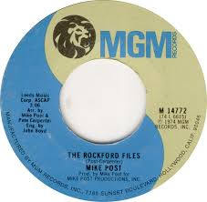 theme music rockford files 45cat mike post the rockford files dixie lullabye mgm usa