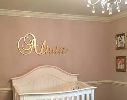 Letter Decorations For Nursery Decorative Nursery Letters Etsy