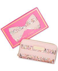 betsey johnson macy u0027s exclusive boxed sequin zip around wallet