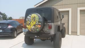 jeep beer tire cover iron maiden tire cover for my birthday 3 imgur