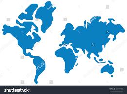 World Map Silhouette World Map Vector Silhouette Design Shape Stock Vector 406494100