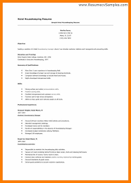 sample hotel housekeeping resume to hotel front desk resume in