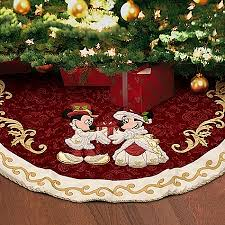 disney christmas tree skirt victorian minnie and mickey mouse