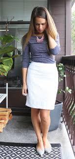 striped pencil skirt dress ala jules in flats september h m striped top forever 21