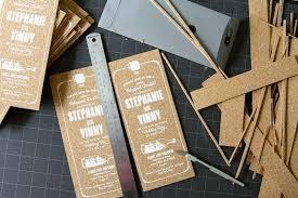 wedding invitations cork silkscreened cork invitations anticipate invitations