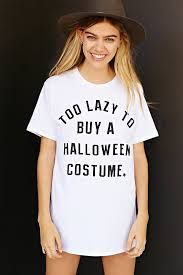 Halloween Costume Shirts Too Lazy To Buy A Halloween Costume Tee Urban Outfitters On The Hunt
