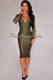 black and gold dress black gold shimmer padded knee length dress