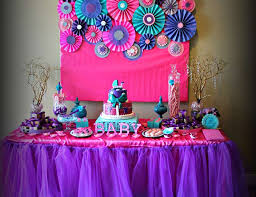 pink and purple baby shower decorations 6966