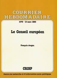 si e conseil europ n le conseil européen cairn info