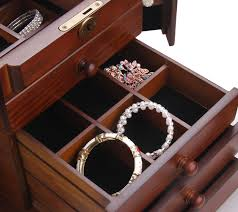 Jewellery Organiser Cabinet Rowling Wooden Jewelry Box Necklace Organiser Display Cabinet