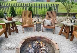 building fire pit in backyard diy fire pit backyard budget decor prodigal pieces