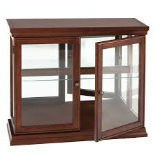 curio cabinet wooden curio cabinets wood with glass doors cherry