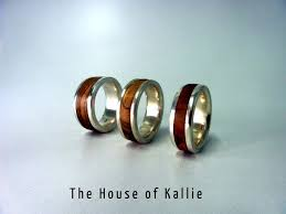 house wedding band squared olive wood sterling silver band by kallie house of