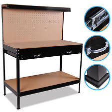 Keter Folding Work Table Bench Mate With 2 Clamps Working Bench Ebay