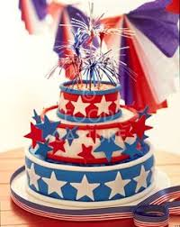 pictures on red white and blue cakes wedding ideas