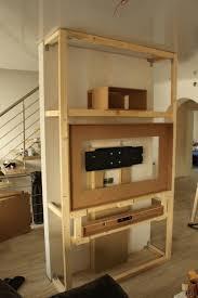 Wohnzimmerschrank Verschieben Projekt Wohnwand Mit Integriertem Tv Soundbar U0026 Htpc