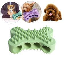 Silicone Pet Dog Cat Bath Grooming Brush b Rubber Glove Effecient