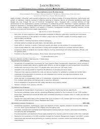 resume supervisor sample resume