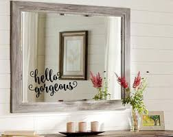 hello gorgeous decal bathroom mirror decoration vinyl