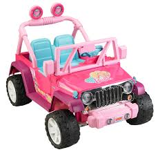 pink jeep liberty power wheels barbie jammin u0027 jeep wrangler 12 volt battery powered