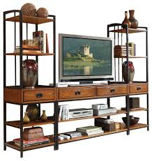 Distressed Oak Bedroom Furniture by Modern Craftsman 3 Piece Entertainment Center Distressed Oak