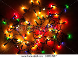 tangled christmas lights up stock images royalty free images