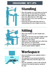 proper height for standing desk ergonomics standing desk standing desk ergonomics monitor height