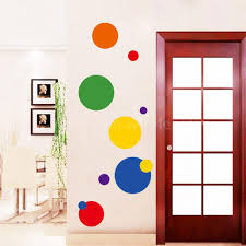 removable circle polka dots wall art vinyl sticker decal mural instantly removable repositionable and reusable with no harm or damage to the surface can be placed on the wall fridge tile and any other hard surface