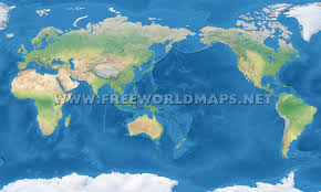 Simple Vector World Map by Asia Centric World Map