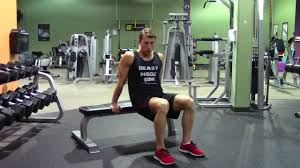 bench dips with knees bent hasfit triceps exercise demonstration