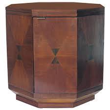 Vintage Henredon Bedroom Furniture Vintage Henredon Inlaid Wood Octagon Cabinet With Interior Shelf