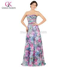 aliexpress com buy long evening dress 2017 grace karin floral