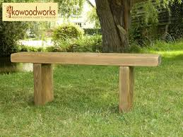 Rustic Bench Seat Solid Wood Garden Bench Chunky Rustic Pine Farmhouse Wooden