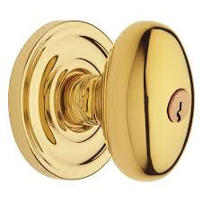 Baldwin Door Hardware Shop Baldwin Estate Egg Lifetime Polished Brass Keyed Entry Door